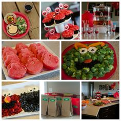Sesame Street/Elmo party food