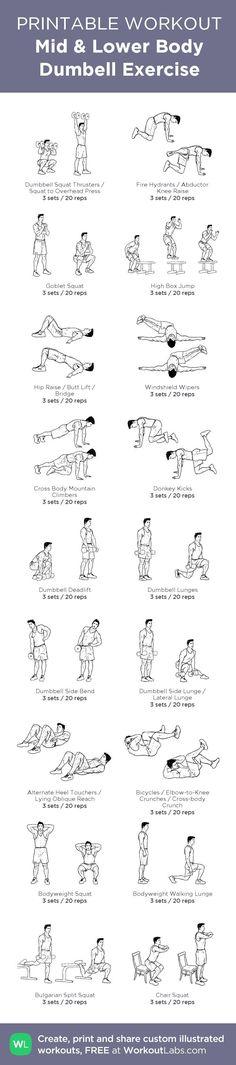 nice Mid & Lower Body Dumbell Exercise