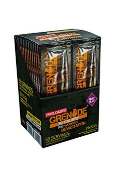 Grenade Grenade-50 Cal Preloaded Berry 25 x 2 servings sachet * You can get additional details at the image link.