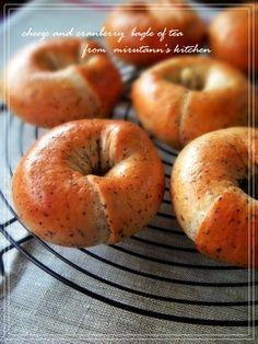 クランベリーとチーズの紅茶ベーグル #breads