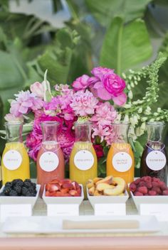 Mimosa bar - Katrina will get the bottles for them to go in and make the tags that say what juice is what. Description from pinterest.com. I…
