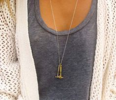 Gold Hammer & Axe Necklace