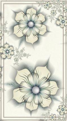 June Love 1 by Kattvinge on DeviantArt Vintage Wall Art, Vintage Paper, Vintage Walls, Flower Wallpaper, Wallpaper Backgrounds, Wallpapers, Fractals, Flower Art, Pink Flowers