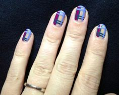 This morning, we've been celebrating the release of Disney Pixar's Brave.    We created these tartan-inspired manicures using Queen Vic, Stag Do and Sprog.