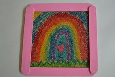 "Using crayons and sand paper to make ""sand art"" pictures {without the mess}"