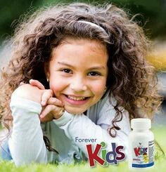Forever Kidz.  Chewable multi-vitamins that provide children with the nutrients needed each day. Fun and delicious, grape-flavoured, formulated without sugar, aspartame, artificial colours or preservatives, adults love them too.