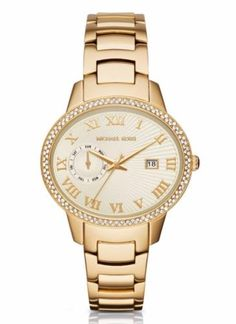 MICHAEL-KORS-MK6227-WOMENS-WHITLEY-OVAL-GOLD-TONE-CRYSTAL-BEZEL-WATCH-NEW-325