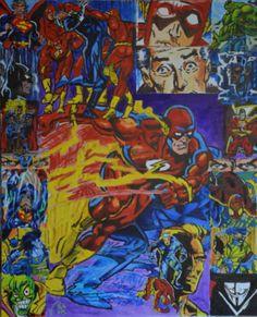 Comic Masks (Masks, Polyptych, scene 4), bachmors artist