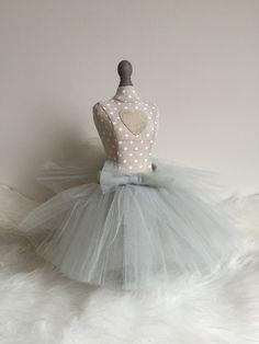 Spódniczka tiulowa szara idealna dla małej księżniczki:)
