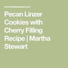 Pecan Linzer Cookies with Cherry Filling Recipe   Martha Stewart