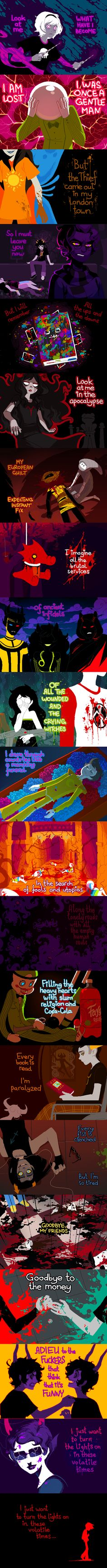 Volatile Times by the wonderful Xamag. This is... one of the best Homestuck fanarts I've ever seen.