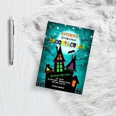 Halloween Invitations Kids, Birthday Invitations, Halloween Printable, Printable Baby Shower Invitations, Baby Shower Invites For Girl, Spooky Scary, Boys, Girls, Fall Halloween