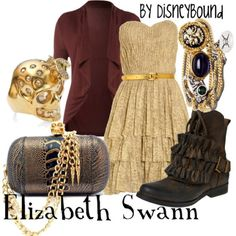 Elizabeth Swan Disneybound I'm sad because you can't go to pirates of the Caribbean disneybounds on the site, anymore.