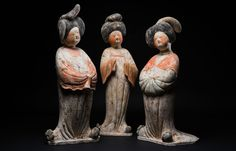 "Three Magnificent ""Fat Ladies"" Tang Dynasty (618 - 907 AD), China - The Curator's Eye"