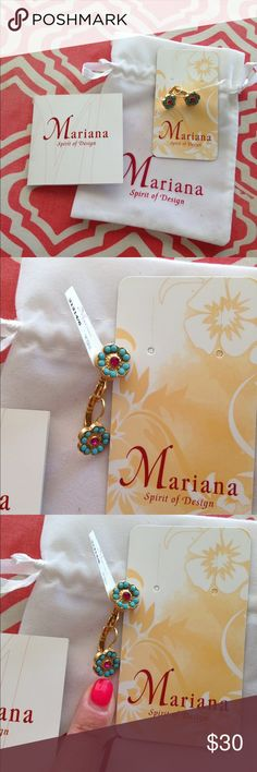 Mariana spirit of design earrings NWT.. Super cute floral small earrings.  Tags attached never worn.  Dust bag and card included. Bought from boutique in TX.. Current design Mariana Jewelry Earrings