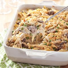 This Classic Chicken Tetrazzini is Paula's go-to recipe for using leftover chicken to make a yummy casserole. Get more great recipes by ordering your subscription to Cooking with Paula Deen today! Fall Casseroles, Chicken Tetrazzini Recipes, Leftover Chicken Recipes, Casserole Recipes, Chicken Casserole, Great Recipes, Holiday Recipes, Cooking Recipes, Beef Recipes