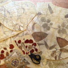 Fábrica de chaquetas 😀 #naturaldye #ecoprint #lanasyfieltrosesfema #handmade