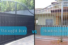 stainless vs wrought iron driveway gates