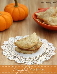 Pumpkin Pie Bites - Whats Cooking Love?