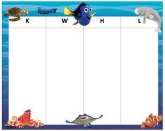 KWHL Table Dory & Nemo 30x24 Dory, Tables, Mesas