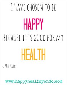 Happy and Healthy #GoodHealth #HappyHealthyEndo #Health #Happy