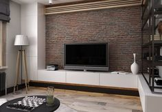 Living Room - Shades of gray for a stylish, masculine, modern and inviting apartment.