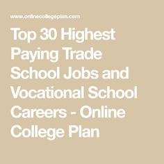 Many trade school jobs and vocational school careers are very lucrative. Learn more about the highest paying trade school jobs and quick programs! Types Of Education, Education And Training, Education College, Special Education, Education Requirements, College Courses, Importance Of Time Management, Time Management Skills, School Jobs