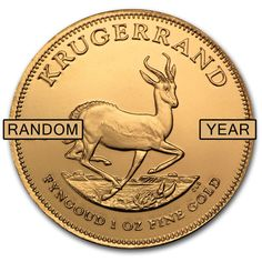 SPECIAL PRICE! 1 oz Gold South African Krugerrand Random Year - SKU #85815
