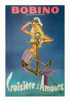 CROISIERE D AMOUR BOBINO 60 x 40 cm condition A+ OKLEY circa 1980 - NEW - Poster Paul - Original vintage posters - Paris