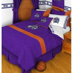 NBA Sacramento Kings Twin Comforter Set Basketball Bedding