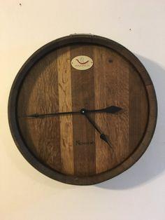 Wine Barrel Head Wall Clock by AWineofaKind on Etsy