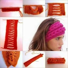Tutorial on how to make a beautiful knit and braided headband. this faux braid headband very easy to do, and so cute that you can make it longer or wider for a faux braid … Headband Tutorial, Diy Headband, Knitted Headband, Knitted Hats, Loom Knitting, Knitting Stitches, Knitting Patterns, Crochet Patterns, Knit Or Crochet