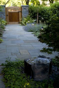 Courtyard entry: lots of entries are small but fail to take advantage of the space they do have by putting in paths that are too small, and token bits of lawn or etc. Widen that path integrate it with full bed planting and you have a courtyard entry.
