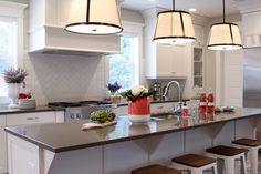 When it comes to designing a kitchen, a backsplash is one area where you  can have somefun. While the cabinets tend to be a practical choice and the  countertops a question of utility, a backsplash finishes off a kitchen's  look. Here's what you might think about before adding wow to your  walls.With lots of tileand backsplash options, consider which material  will fit your needs. Ask yourself what is more important in your space,  form or function?