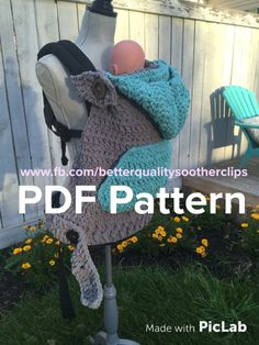 (4) Name: 'Crocheting : Snuggly Universal Baby Carrier Cover More
