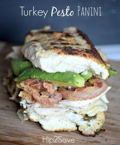 Turkey Pesto Panini Hip2Save