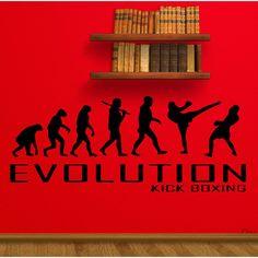 Kick Boxing Muay Thai MMA Evolution Sticker Vinyl Wall Art
