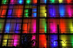 Colorlights on a house