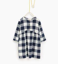 Check dress-DRESSES AND JUMPSUITS-Girl-Kids | 4-14 years-KIDS | ZARA United States