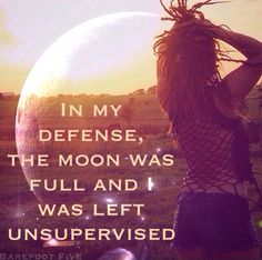 In my defense, the moon was full and I was left unsupervised...