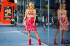 STYLE DU MONDE / New York SS 2017 Street Style: Camille Charriere  #Fashion, #FashionBlog, #FashionBlogger, #Ootd, #OutfitOfTheDay, #StreetStyle, #Style