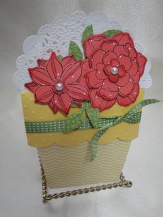 Stampin'Up! Spring Flower Pot Card