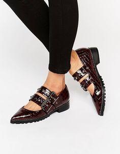 1d4a9fa297d ASOS   ASOS MAEGAN Pointed Flat Shoes Best Winter Shoes, Red Flats, Flat  Shoes