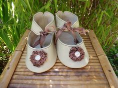 VERY LARGE LEATHER DOLL SHOES FOR ANTIQUE GERMANY OR FRENCH DOLL / Puppenschuhe