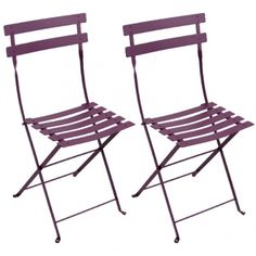 Bistro Metal tuoli, 2 kpl, aubergine