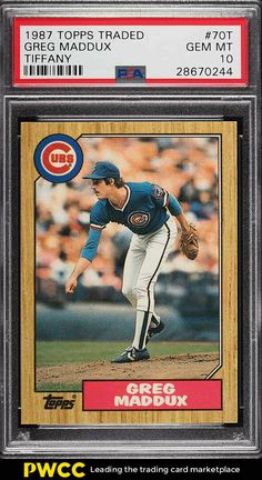 1987 Topps Traded Greg Maddux Chicago Cubs Baseball Card for sale online Baseball Cards For Sale, Football Cards, Derek Jeter Rookie Card, Greg Maddux, Cubs Team, Custom Cards, Chicago Cubs, Trading Cards, Mint