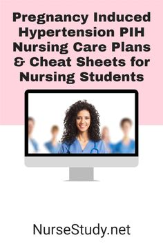 PIH is the occurrence of hypertension during pregnancy.     FREE NCLEX Study Guide Cheat Sheets for Nursing Students including Nursing Notes and Nursing Care Plans. Nursing Study Tips, Nursing Care Plan, Nursing Cheat Sheet, Nursing Diagnosis, Nursing School Notes, Stress Tests, Nclex, Maternity Nursing, Care Plans