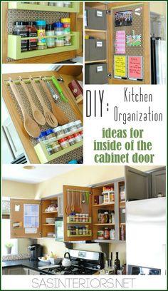 Kuchyně Organizace: Nápady pro uložení na vnitřní straně kuchyňských skříněk odJenna_Burger, www.sasinteriors.net