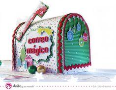 DIY: cómo hacer un buzón de correos mágico para Reyes Magos y Papá Noel.  #manualidades #craft #papercraft #xmas #anitaysumundo #scrapbooking #niños #papel #cartulina #handmade #hechoamano