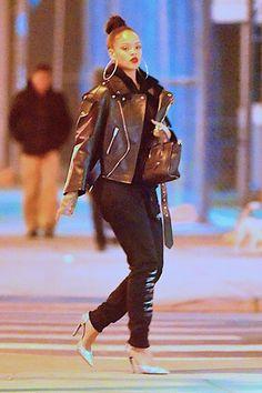 """rihanna-infinity: """"February 2: Rihanna out in New York City. """""""